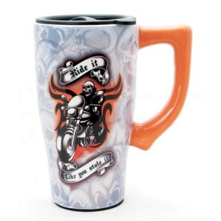 New Motorcycle Ride It Like You Stole It Ceramic Travel Mug