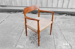 Danish Modern Mid Century Moller Model 56 Armchair Eames Era Mad Men