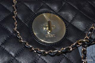 DKNY Quilted Nappa w Modern Lock Handbag Bolsa Sac Väska Handtasche