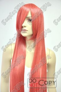 Vocaloid Miki Orange Red 40 Long Straight Cosplay Wig