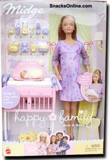 Barbie Midge and Baby Happy Family Mom Baby