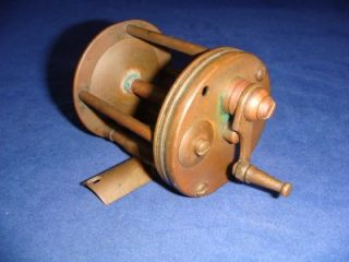 RARE Antique Meek Milam No 5 Kentucky Brass Fishing Reel Mid 1800s