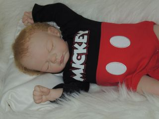 Adorable Reborn Michelle Fagan Ryan Baby Boy Mickey Mouse Must See