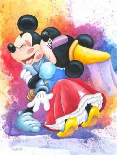 IN LOVE Mickey Minnie Mouse Disney Michelle St Laurent Jigsaw Puzzle
