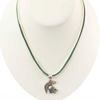 Michigan State Spartans Satin Cord Necklace