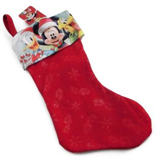 New Disney Mickey Mouse Minnie Mouse 18 Felt Christmas Stocking