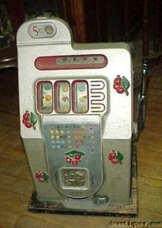 1945 Mills Novelty 5cent Bell Fruit Casino Slot Machine