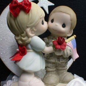 Army Navy Soldier Precious Moment Wedding Cake Topper
