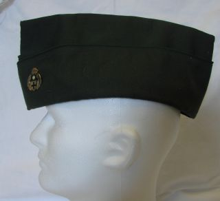 Military Flight Ace Green Uniform Hat 7 1 2 Mullins Loyalty Pin