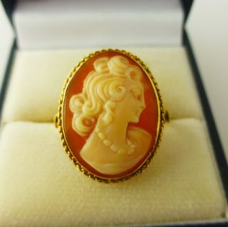 Cameo Ring Hallmarked 18ct rose gold   Antique Jewellery millbrook