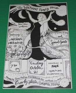 Michael Nesmith Signed Marfa Concert Poster