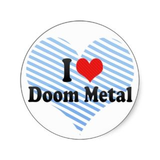 Love Doom Metal Sticker