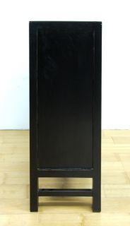 Ming Style Black Cabinet Chest Dresser Side Stand Chest Modern