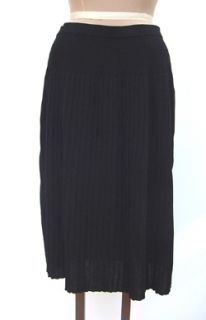 Ming Wang Black Jersey Drop Pleated Skirt Sz S
