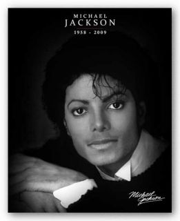Art Poster Michael Jackson Black and White Tribute