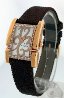 Milus Apiana New 18K Rose Gold Diamond $11 700 Watch