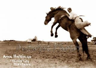 Rodeo Round Up Cowboy Arno Hollings Old Miles City Montana MT