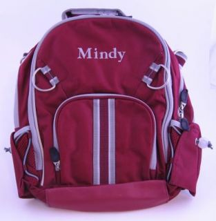 Pottery Barn Kids Varsity Backpack Small Burgundy Mindy