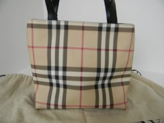 Burberry Mini Nova Check Tote Bag Purse Handbag