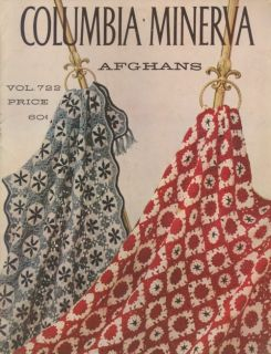 Columbia Minerva Afghans Crochet Pattern Leaflet