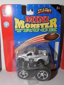 Collectible NFL Licensed Oakland RAIDERS Mini Monster Trucks *Lot #6