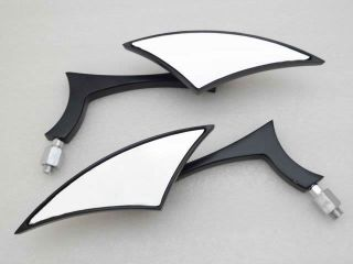 Black Mini Custom Side Mirrors for Motorcycle Street Sport Bike
