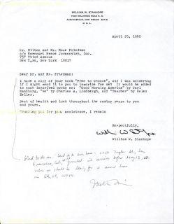 Milton Friedman Autograph Note Signed