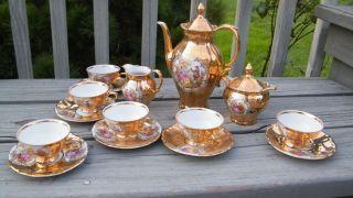 Antique Gold Encrusted German 1910 Cappuccino Demitasse Child Tea Cup