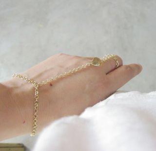 Unique Retro Elegant Alloy Gold Color Chain Bracelet Link Nice Leaf