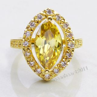 Stunning New Womens 18K Yellow Gold Filled Amethyst Sapphire Topaz