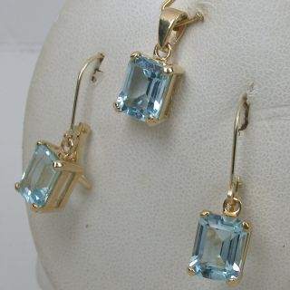 10 24 cts 14k Solid Yellow Gold Natural Aquamarine Leverback Earrings