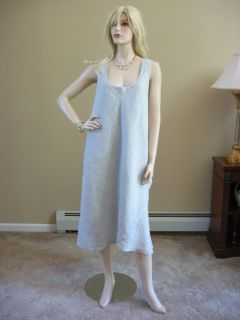 Flax 09 UnderFLAX Heather Candylight Weight Linen Nine Petal Dress L