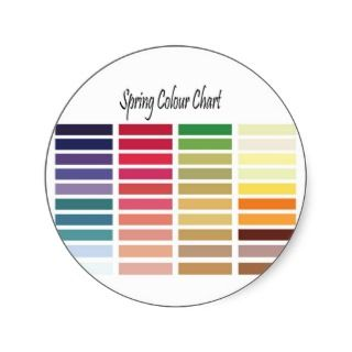 Spring Color Chart Round Sticker