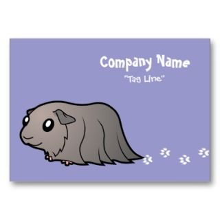 Cartoon Guinea Pig (silver) business cards by SugarVsSpice