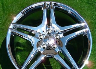Set NEW Chrome 2012 OEM AMG Mercedes Benz S65 20 inch WHEELS S550 S63