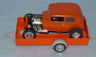 Vintage 60s Plastic Model Kit Built Old Hot Rod Ford Model A Roadster