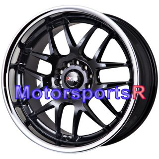 18 x 9 10 5 XXR 526 Black Rims Wheels Staggered Deep Dish 5x114 3 5x4