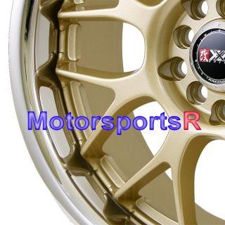 17 XXR 006 Gold Rims 02 04 06 11 Acura TSX RSX Type S