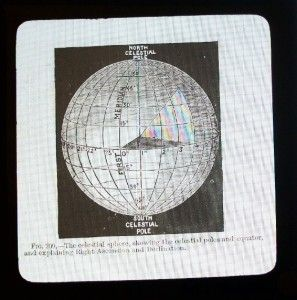Glass Magic Lantern Slides Astronomy G Philip & Son Shooting Star Moon