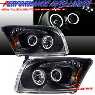 2007 2009 DODGE CALIBER PROJECTOR HEADLIGHTS W/ CCFL HALO RIMS & LED