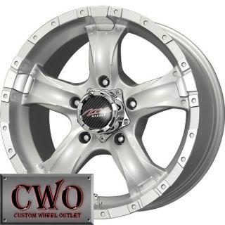 15 Silver MB Chaos 5 Wheels Rims 5x114 3 5 Lug Jeep Wrangler Explorer