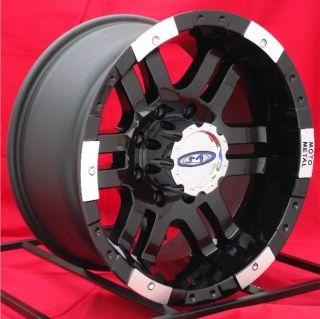 16 inch Black Wheels Rims Chevy Dodge 2500 3500 Truck RAM 8 Lug Moto