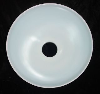 Large Retro Torchiere Milk Glass Floor Lamp Shade Grooved Globe