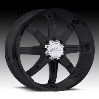 20 inch 8x6 5 Black Kool Whip Wheels Rims 8 Lug Chevy Dodge RAM 2500