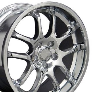 18x9 Chrome G35 Infinti Style Wheels Rims Fit Nissan