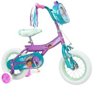 Dora Childrens Bicycle 12 inch Girls Toddler Training Wheels Kids