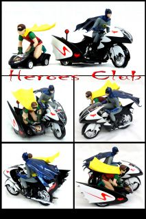 Hot Wheels Batcycle 1 12 Scale Figure Batman Robin Set TV SERIES1966 L