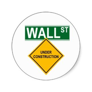 Wall Street Under Construction Sticker