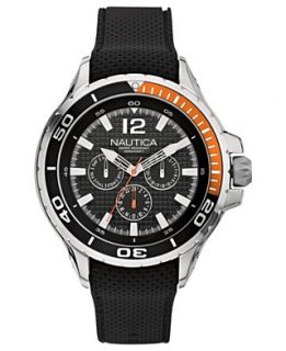 Nautica Watch, Mens Black Resin Strap 48mm N17612G
