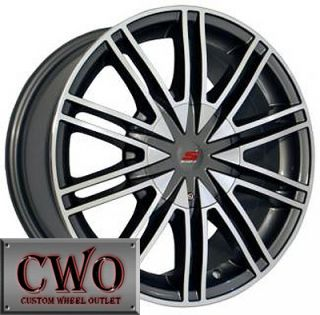 16 Silver Sendel S07 Wheels Rims 5x100 5x115 5 Lug VW Jetta Golf Cruze